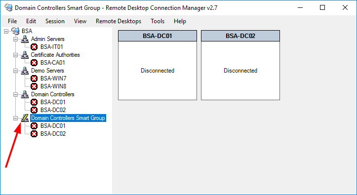 Remote Desktop Connection Manager Smart Group Symbol