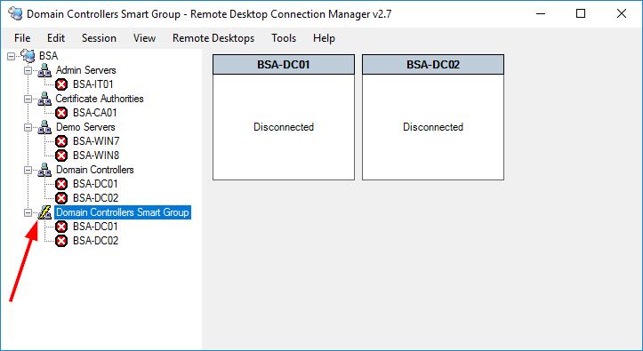 Remote Desktop Connection Manager Smart Group Symbol